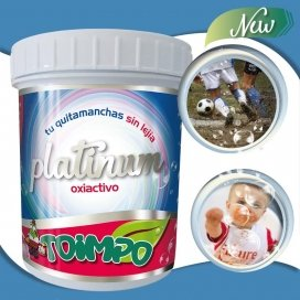 """Quitamanchas """"sin frotar"""" oxiactivo Platinum Toimpo 590g."""