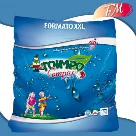 Detergente en polvo para blanco y color Compac original Toimpo 95 lavados
