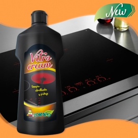 Limpiador vitrocerámicas crema Vitrocream Toimpo 450 ml.